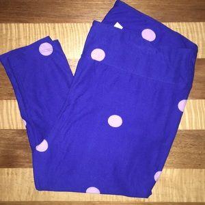 TC LuLaRoe purple leggings